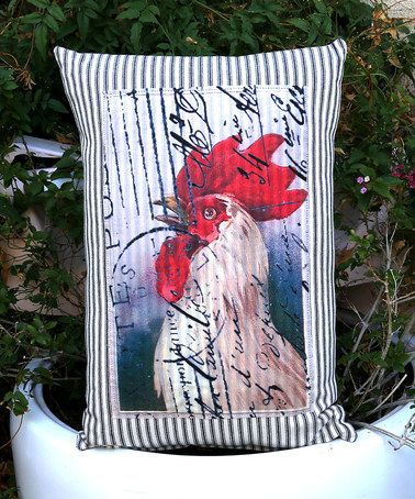 Black Rooster Throw Pillows : Born in a Barn Rooster On Black Ticking Throw Pillow Zulily!, Throw pillows and .tyxgb76aj