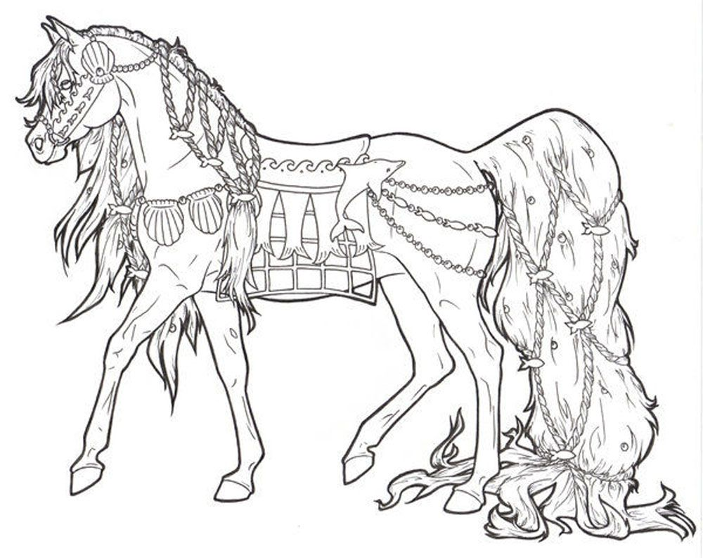 realistic horse coloring pages # 8