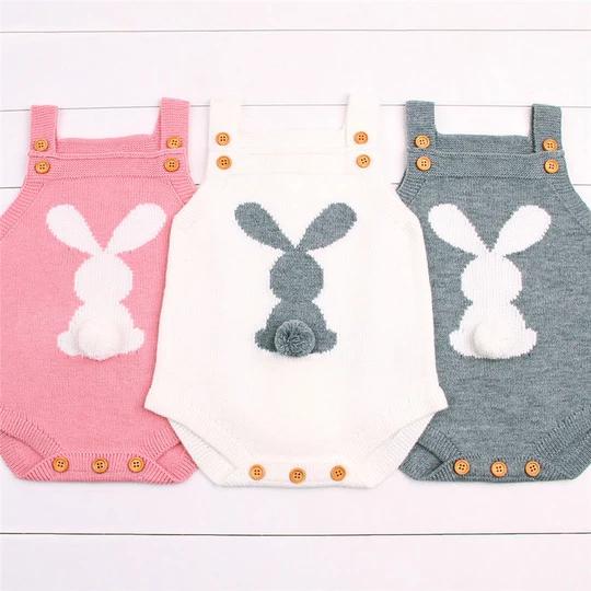 Photo of 2017 Newborn Baby Boys Girls Rabbit Knitting Wool Sleeveless Bodysuit Jumpsuit Outfits Cute Sweater Anime Clothing