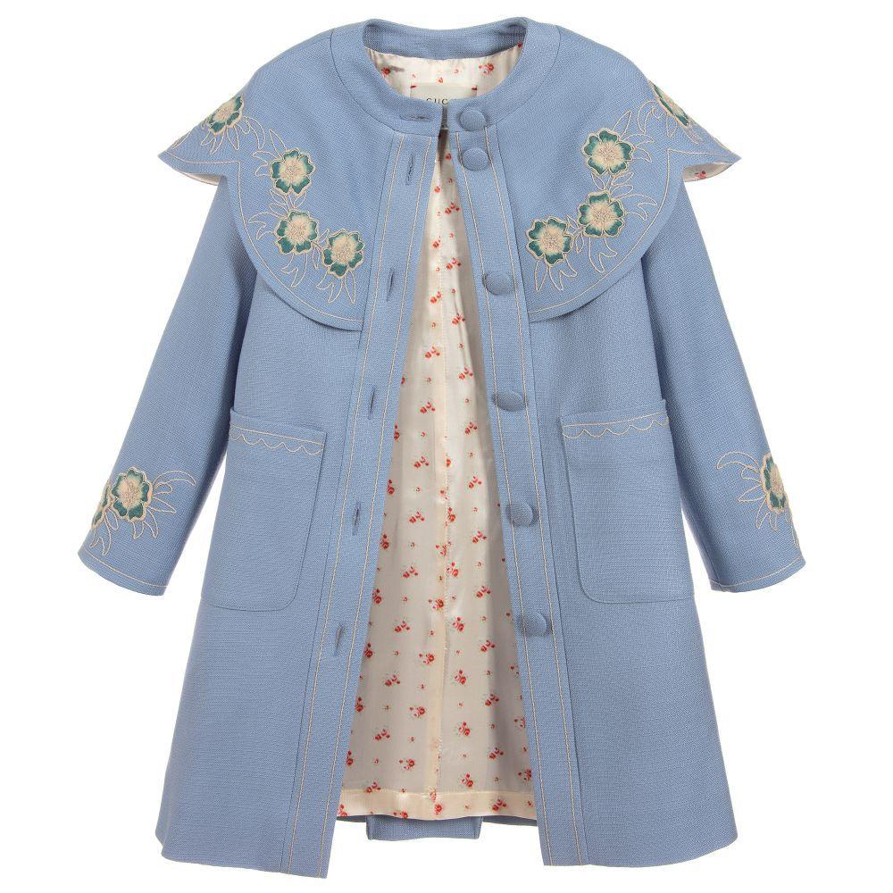 Monsoon Kids Baby Girls Baby Coat with Ruffles Florrie