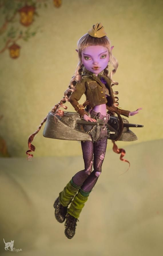 OOAK Monster high doll ~ Lethal Elf ~ #ooakmonsterhigh