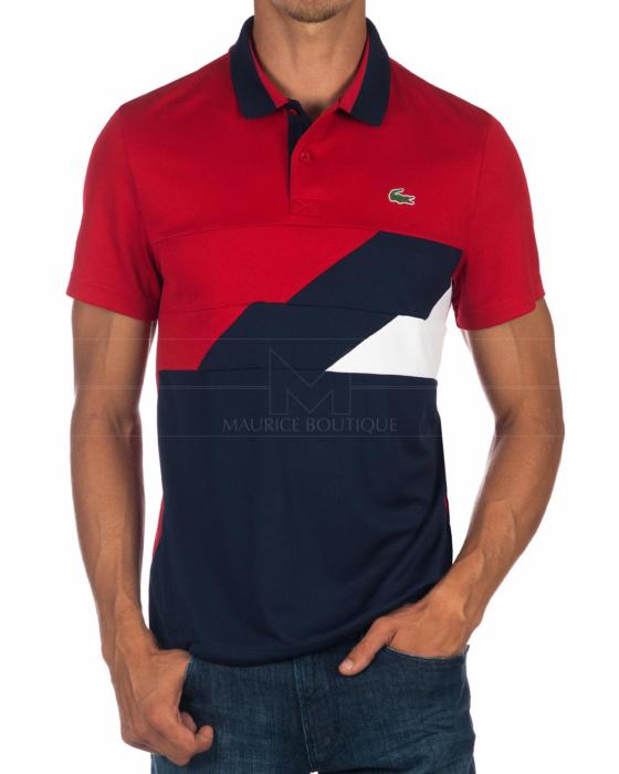 Lacoste Polo Lacoste Sport Rojo Marino Polos Lacoste Pantalones De Vestir Hombre Moda Para Hombre Casual