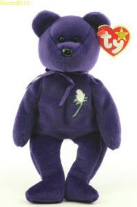 Princess Diana original collector's item beanie baby from Ty with tag, in pristine condition. This is from 1997/1998 when the memorial bears from Ty were released for purchasing, but can be rare to find these, as some have been sold as a knack off. This beanie baby is an ORIGINAL. Perfect item to add to any collector! Please also note, I have many other beanie babies from the 1990s, rare ones as well as more commonly sold bears or beanie baby animals. Feel free to ask about other particular…