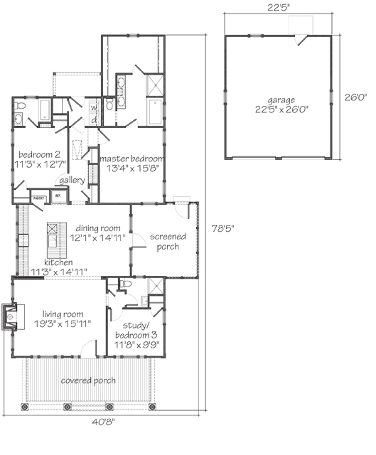 Main Level Floor Plan Southern Living House Plans Southern House Plans Small House Floor Plans