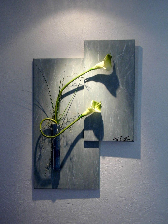 tableau floral intemporel vert marbr 90x60 d corations murales par art pinterest. Black Bedroom Furniture Sets. Home Design Ideas