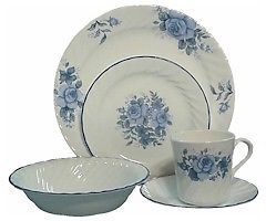 DISCONTINUED CORELLE COLLECTIBLES One of the most beloved Corelle dinnerware patterns is the now discontinued Blue Velvet pictured right.  sc 1 st  Pinterest & RETIRED CORELLE BLUE VELVET ELEGANT ROSE HOOPS AND MORE   eBay ...
