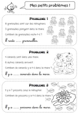 Problèmes Cp Bout De Gomme : problèmes, gomme, Petits, Problèmes, Thème, L'eau, (lilipomme), Mathématiques,, Mathématiques