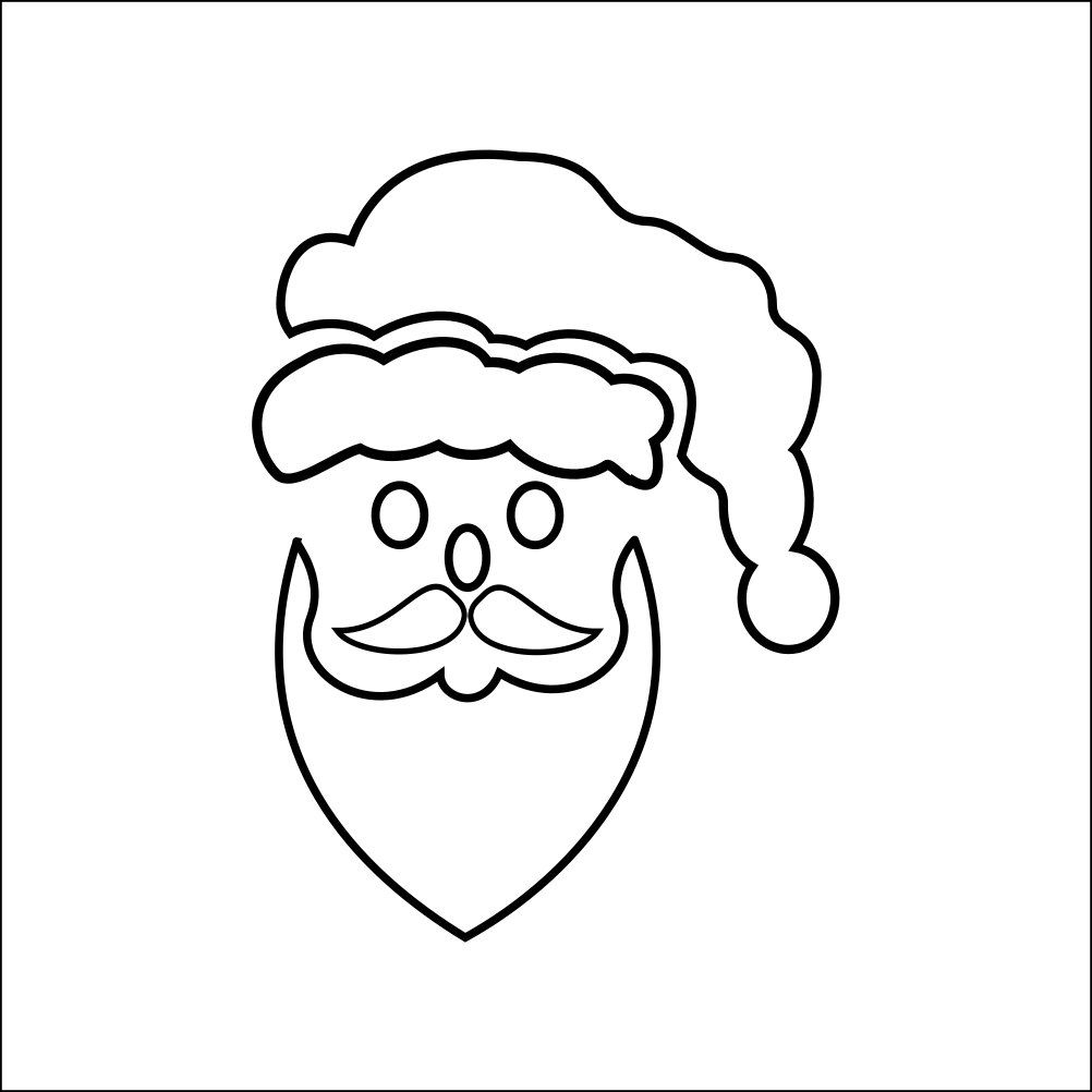 New to westlondonlaser on Etsy: Santa Clause Father Xmas Stencil - Wall Art Stencil in reusable Mylar wall art small to large stencils up to 19.5 x 27.5 inches. (4.99 GBP)