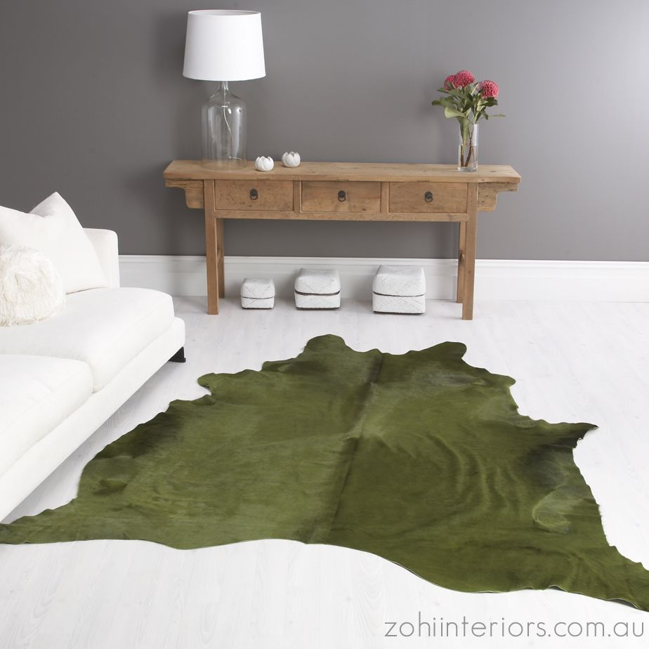Palm Cow Hide Rug Vivid-dyed From Zohi Interiors