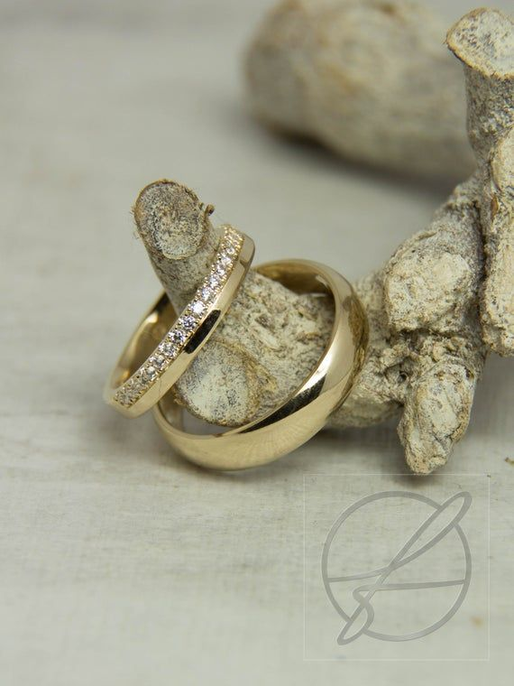 Wedding rings/wedding rings with diamonds. 585 Gold. Ⅰ