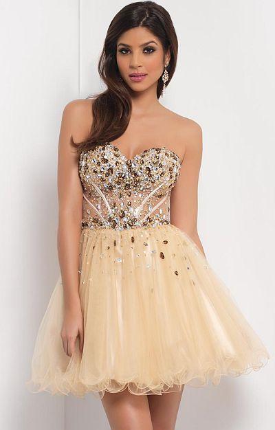 Bronze by Blush Prom Dresses