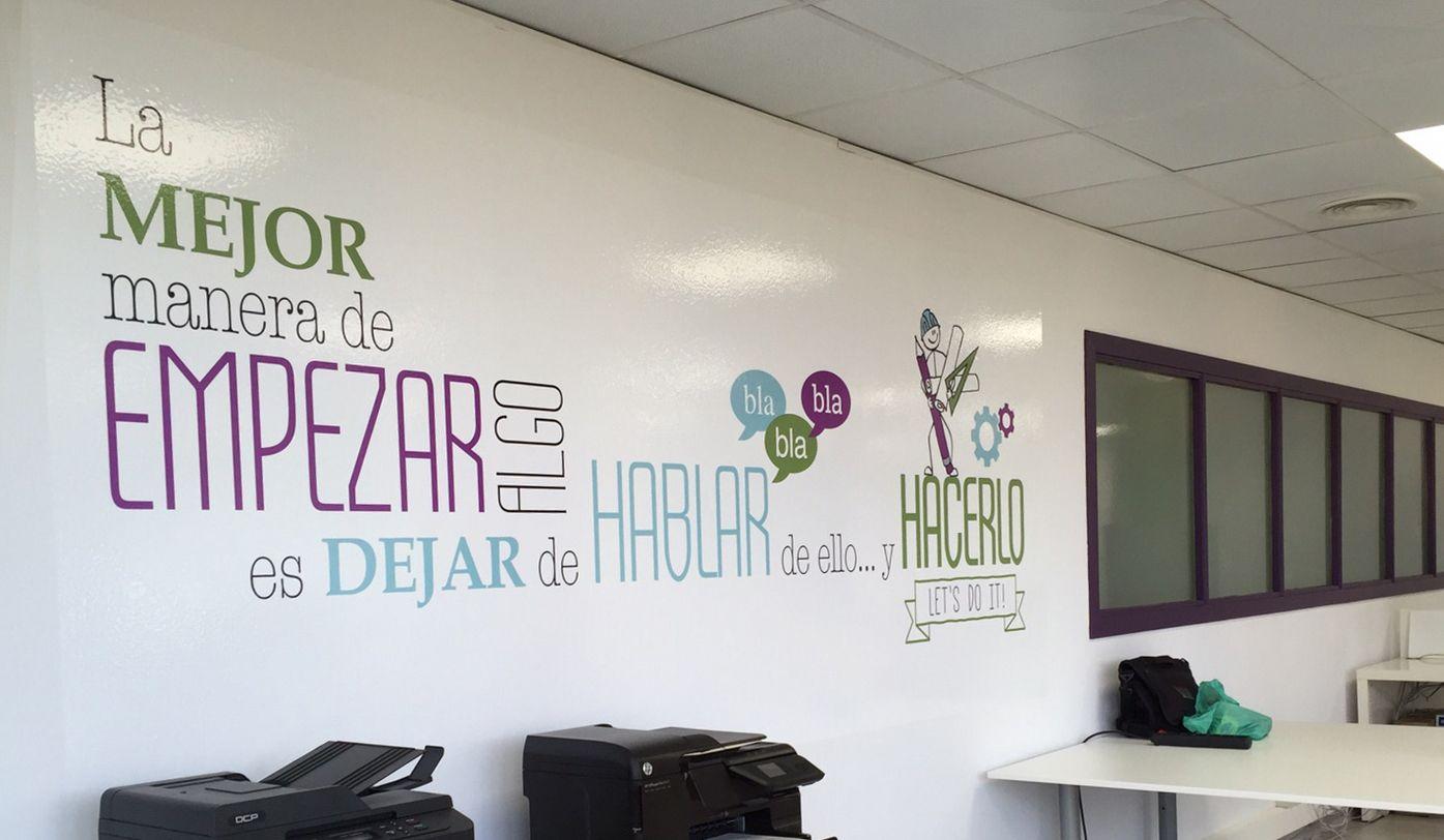 Resultado de imagen para oficinas creativas frases for Vinilos para oficinas