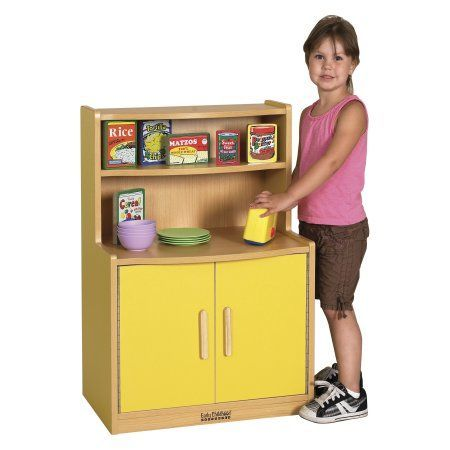 ECR4Kids Colorful Essentials Play Cupboard, Blue