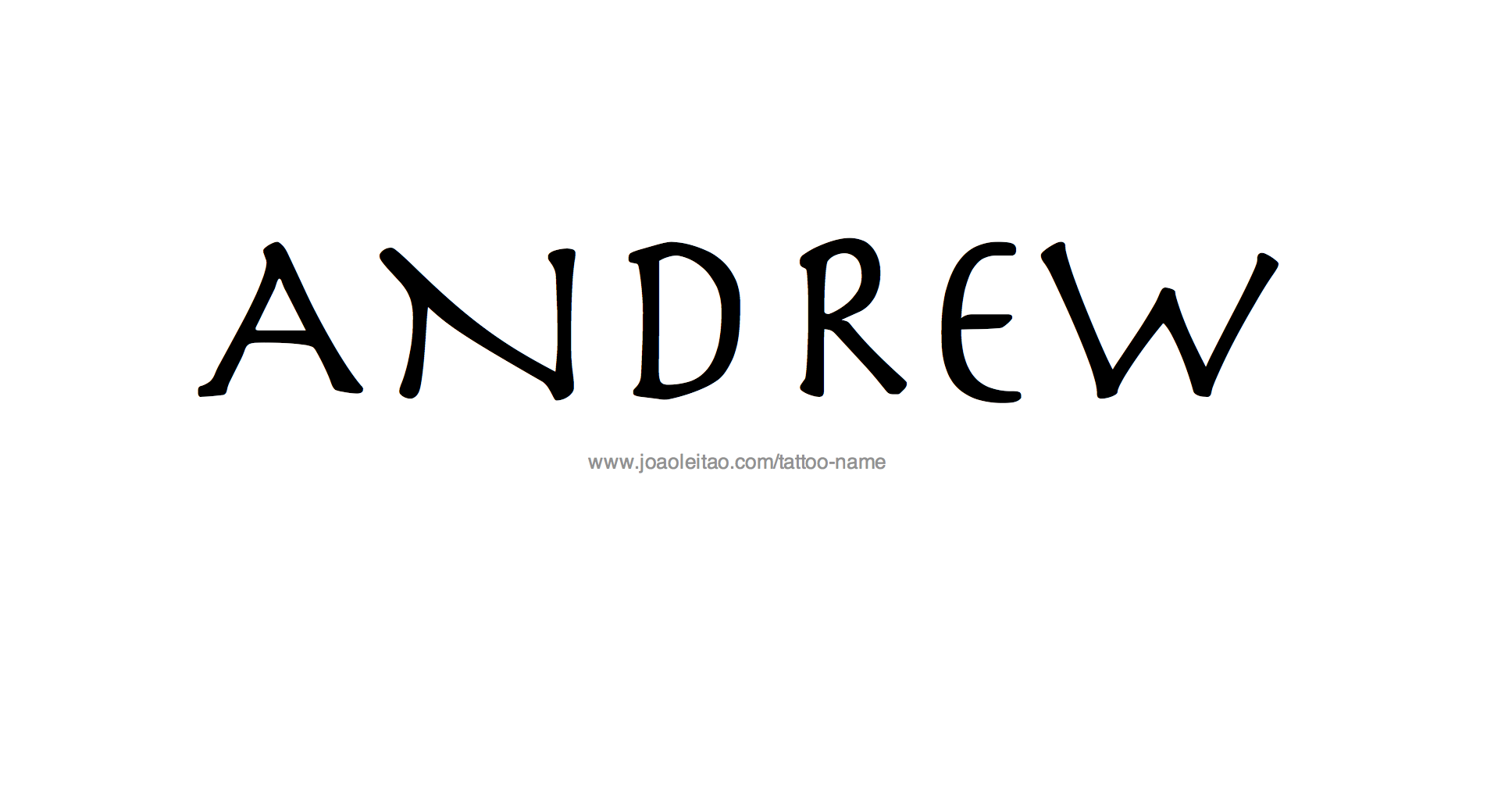 Andrew Name Tattoo Designs