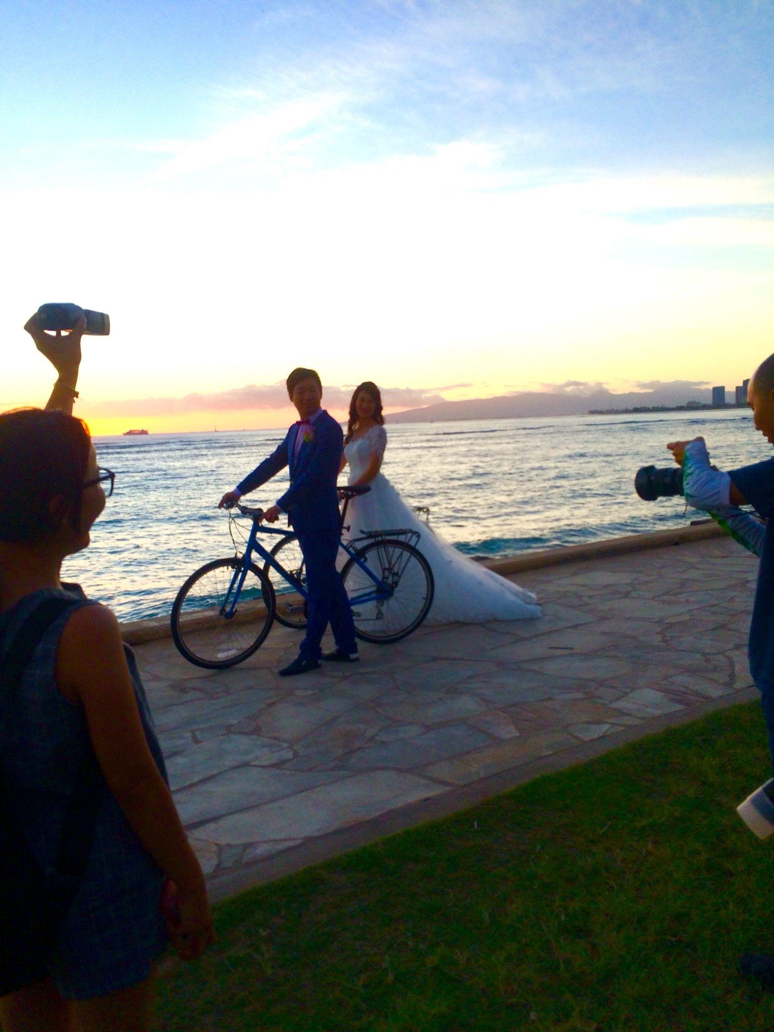 Waikiki Is For Lovers Bicycle Wedding Bicycle Wedding Bike