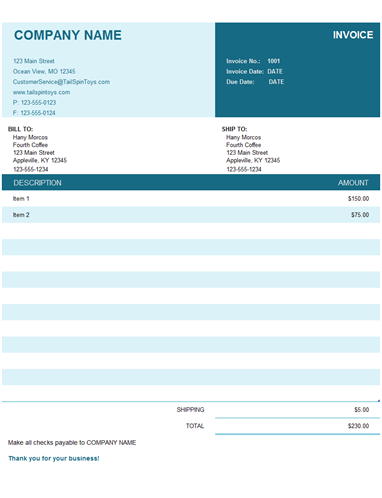 Basic Invoice Invoice Template Word Invoice Template Microsoft Word Invoice Template