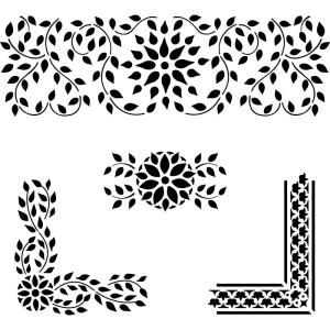 Designer Stencils Indian Inlay Stencil Details