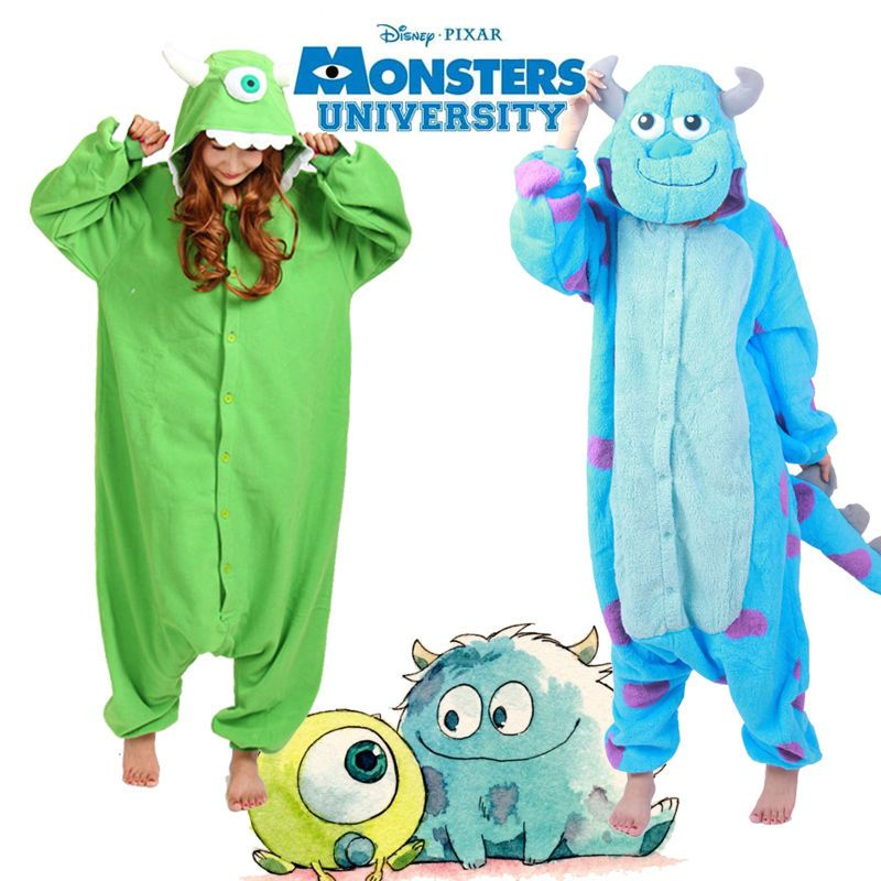 535d0f73c88 Monster University Kigurumi Pajamas Anime Cosplay Costume Adult Onesie  Sleepwear  Unbranded  UnisexAdultOnesieSleepwear