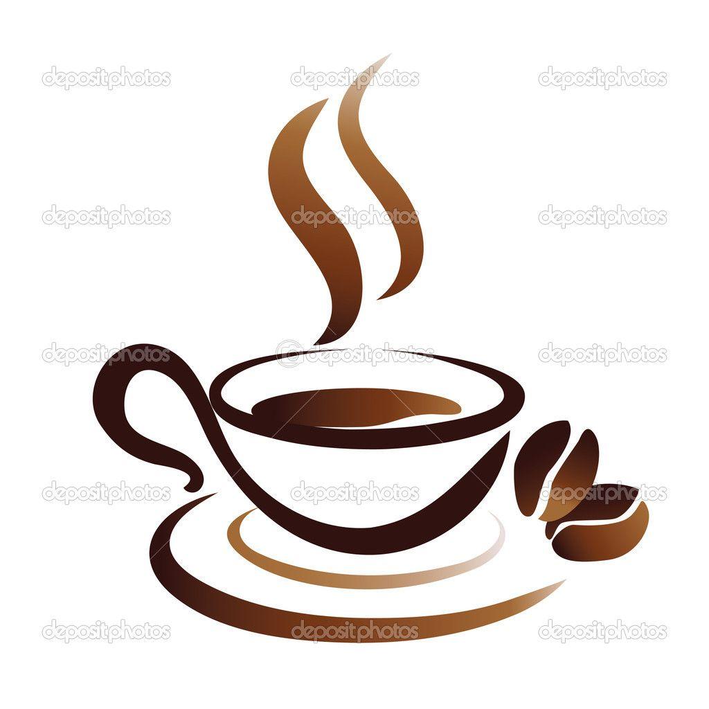Coffee Clip Art | Vector sketch of coffee cup, icon ...