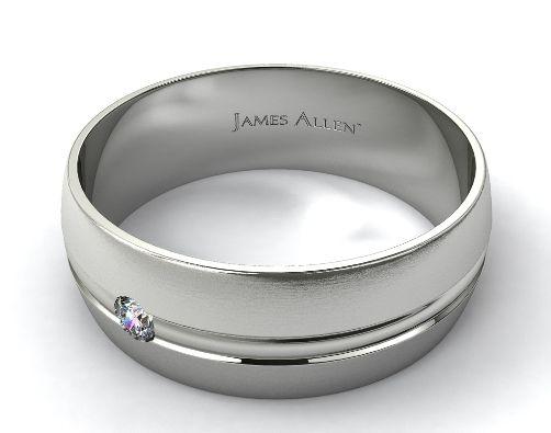 Sleek Steel Or Silver Mens Engagement Rings