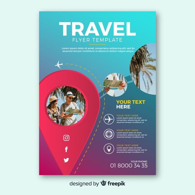 Download Travel Flyer Template For Free Diseño De Viaje Folleto De Viaje Agencias De Turismo