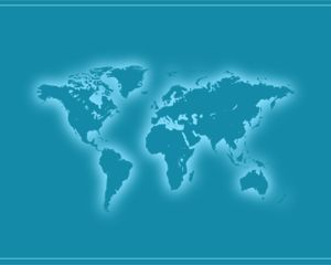 Powerpoint Global Map.Free Global Map Powerpoint Template Is A Blue Template For