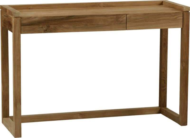 "alternative to shelf:  not as closed up as you'd like but right finish. Rico PC Console Table. 47.25""Wx17""Dx32.25""H"