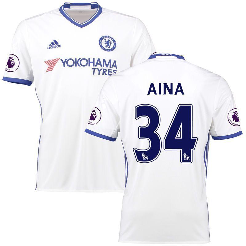 Ola Aina Chelsea adidas 2016 17 Third Replica Patch Jersey - White ... e5ee241a3