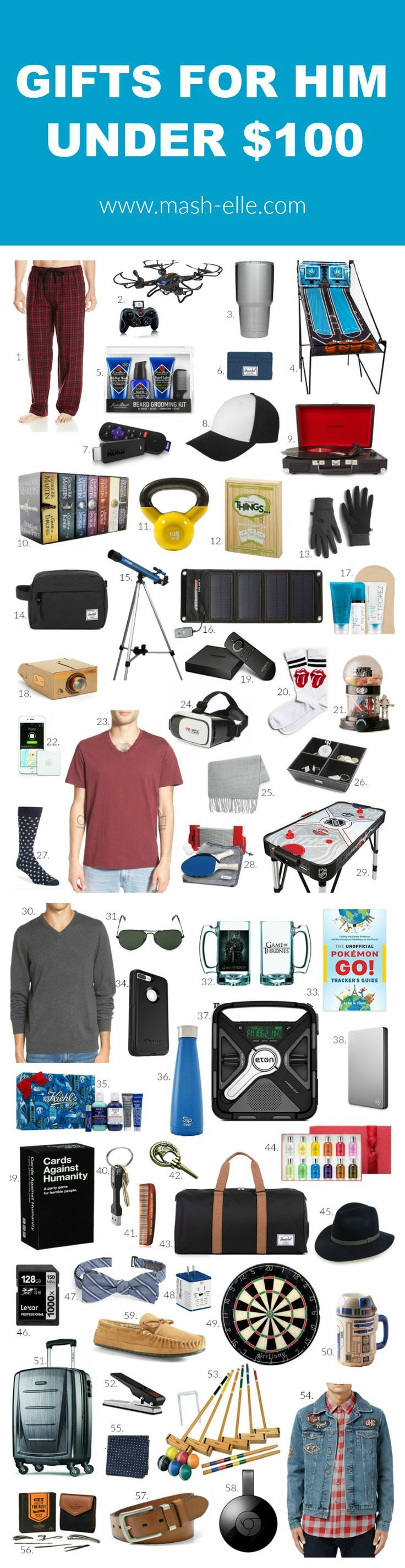 Gift Ideas For Him Under 100 Christmas Presents For
