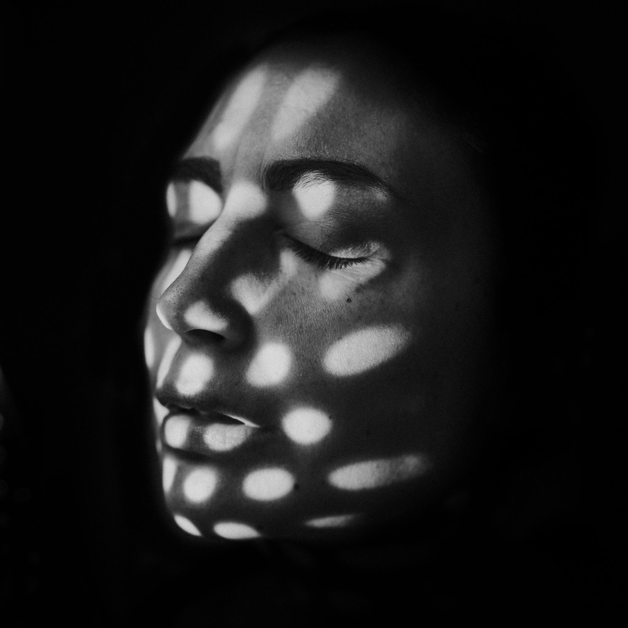 Abstract Light And Shadow B W Self Portrait Dramatic Portrait