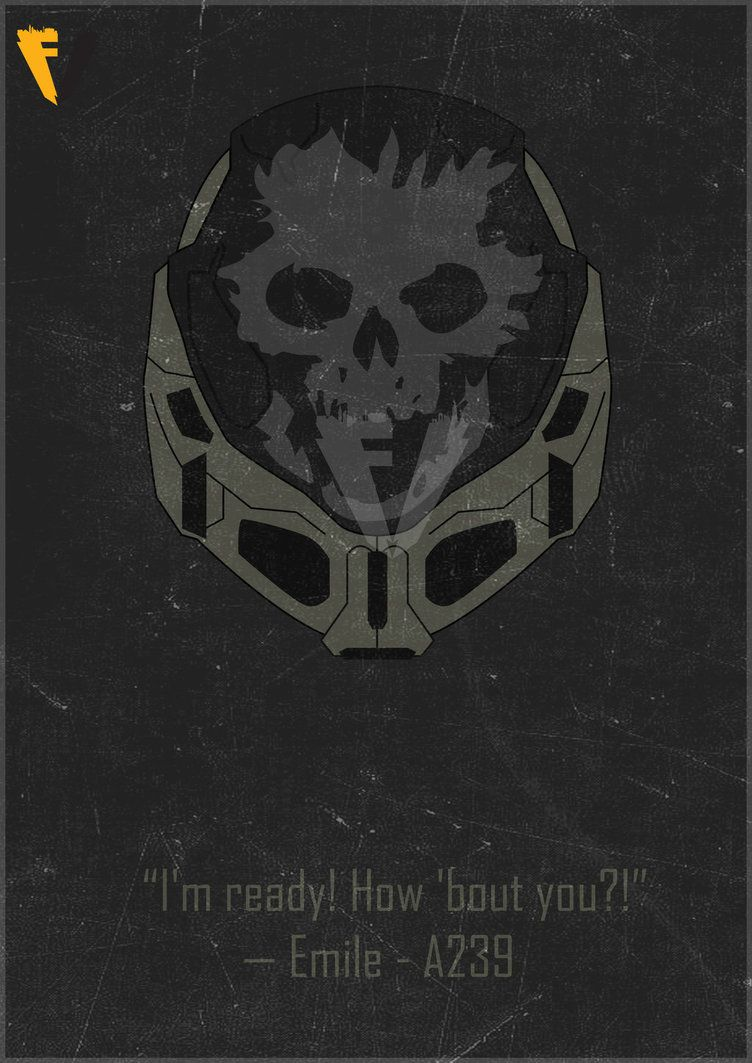 Halo Reach Emile Helmet Poster by FALLENV3GAS on DeviantArt | Gaming