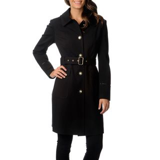 Overstock.com - Vince Camuto Women's Wool Single Breasted Trench ...