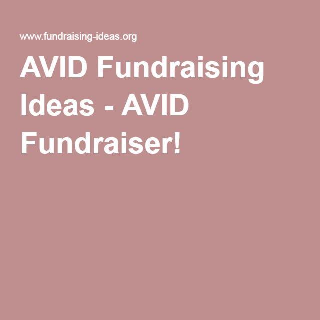 Avid Fundraising Ideas  Avid Fundraiser  Avid
