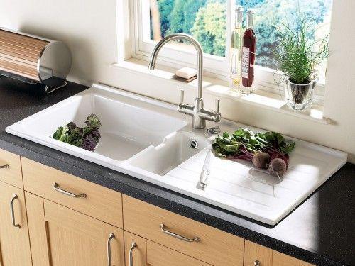 spülbecken aus keramik weiss glänzend [1/3] | haus & einrichtung ... - Keramik Spülbecken Küche