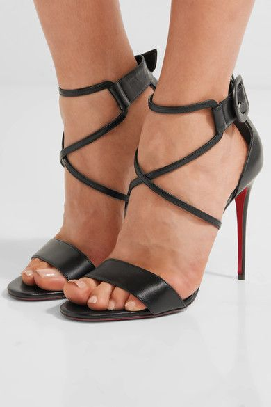 timeless design 3859a 07184 CHRISTIAN LOUBOUTIN Elegant Choca 100 leather sandals ...