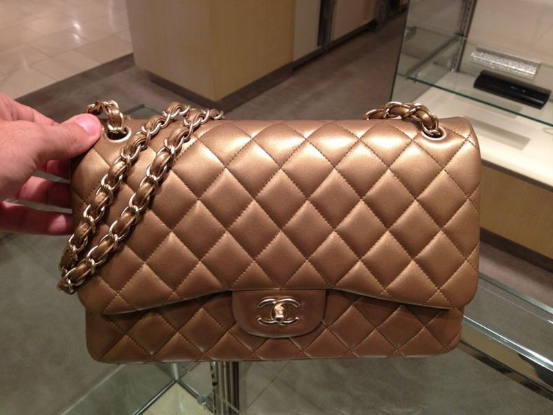 7ec6bb0d1d7c Chanel Bronze Jumbo Lambskin Flap Bag | Chanel: Handbags & Evening ...