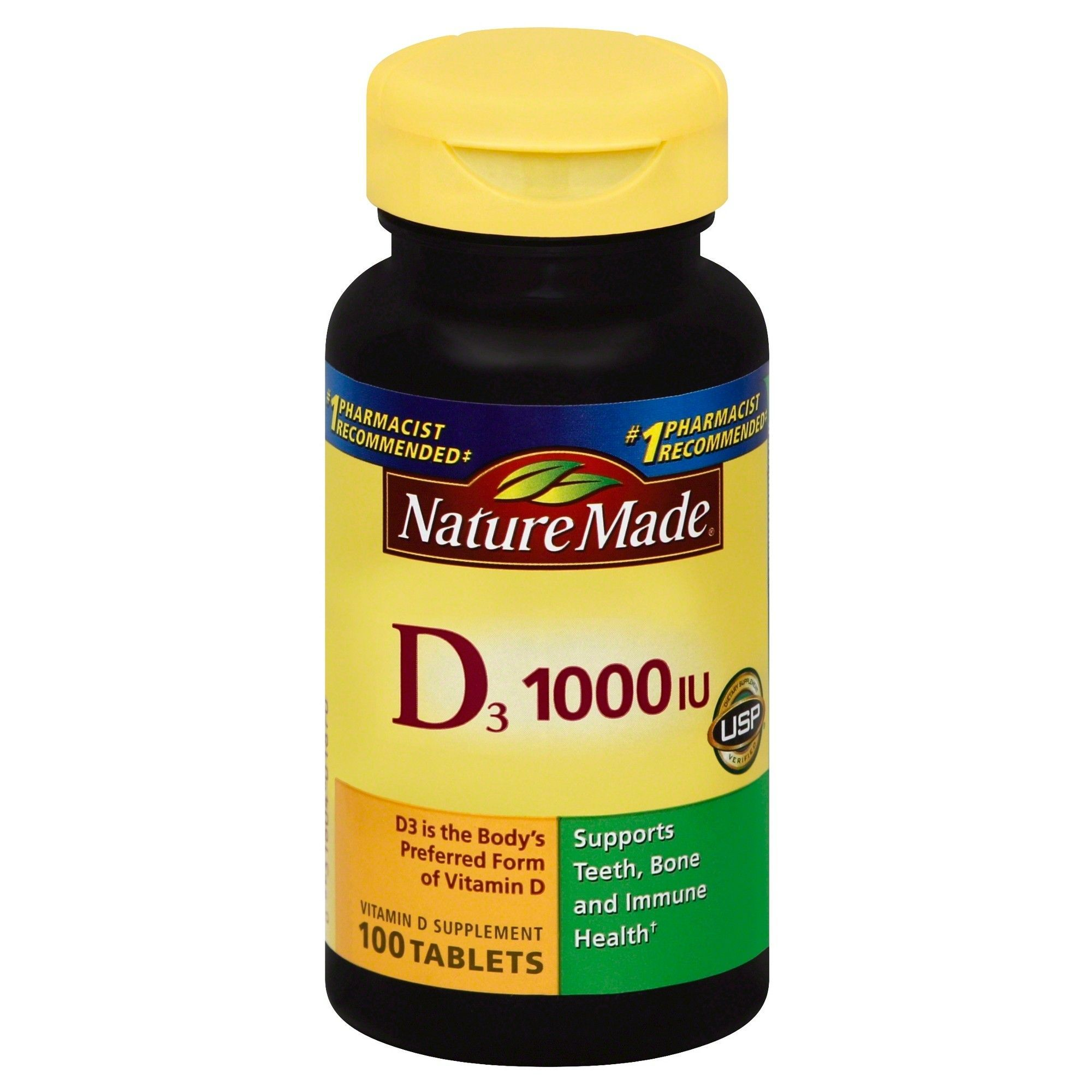 Nature Made Vitamin D3 1000 IU (25 mcg) Tablets 100ct