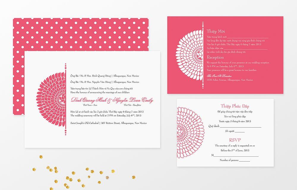 Flower bilingual vietnamese and english wedding invitations from flower bilingual vietnamese and english wedding invitations from invitations by tiffany httpwww stopboris Images