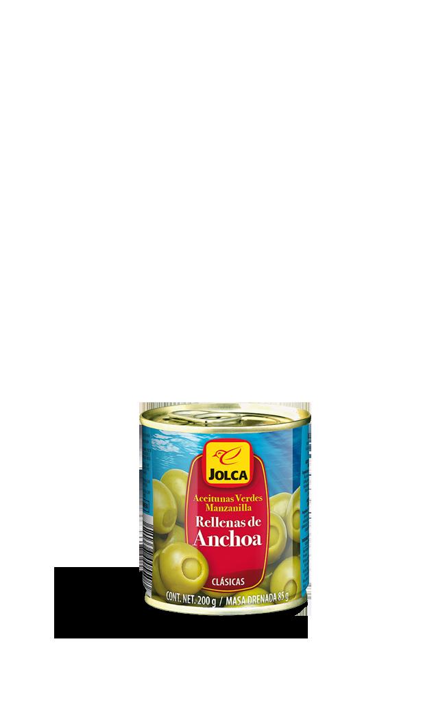 Rellenas con anchoa lata 212 ml #aceitunasrellenas #anchoa #Jolca