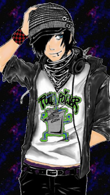 I Colored This Picture. Emo Boy Anime