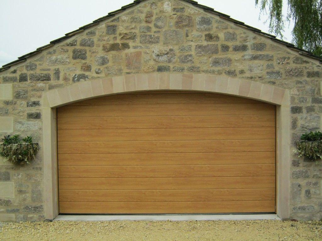 Hormann M Ribbed Sectional In Decograin Light Oak By Abi Garage