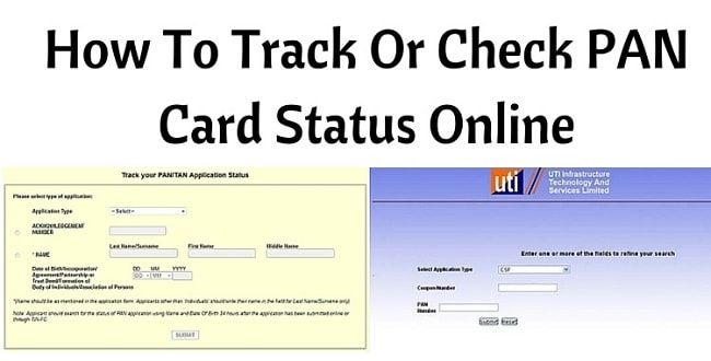 Checking Your Pan Card Status Online Is Very Simple Here We Will Cover The Steps For Applications Made Via Nsdl A Track Status Status Biometric Identification
