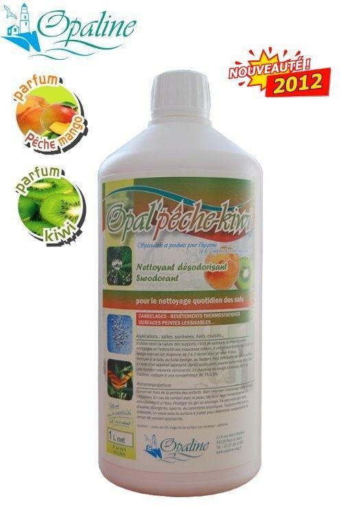 Nettoyant sols puissant-produit entretien parfumé pêche kiwi pour sols-produit entretien sols-OPAL PÊCHE KIWI