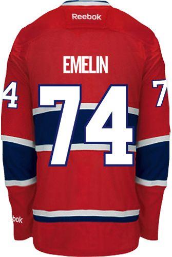 Montreal Canadiens Alexei EMELIN  74 Official Home Reebok Premier Replica NHL  Hockey Jersey (HAND 827d29c2e