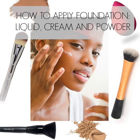 Best foundation application method