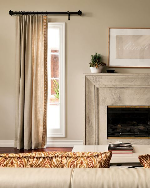 Living Room Either Side Of Fireplace? Single Pleat Drapery   15302, Wrought  Iron Grand