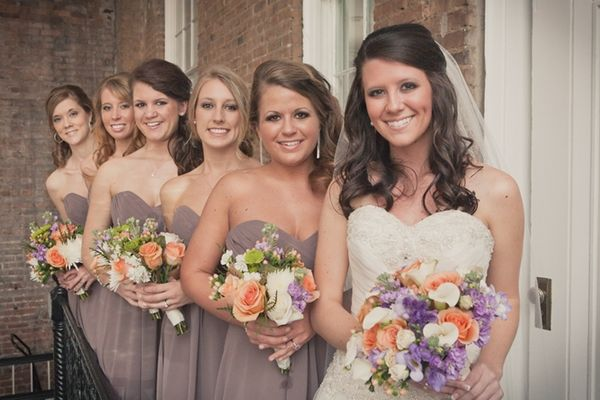 Allure Bridals Style 8769 And Bridesmaids 1221