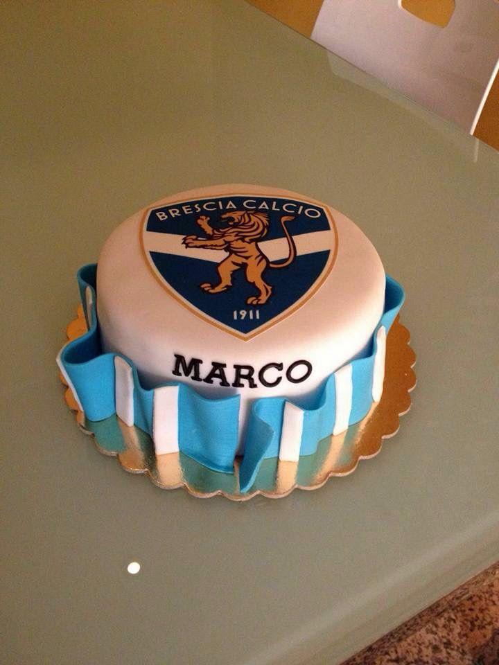 Brescia Calcio Cake Fondant Soccer Team Happy Birthday