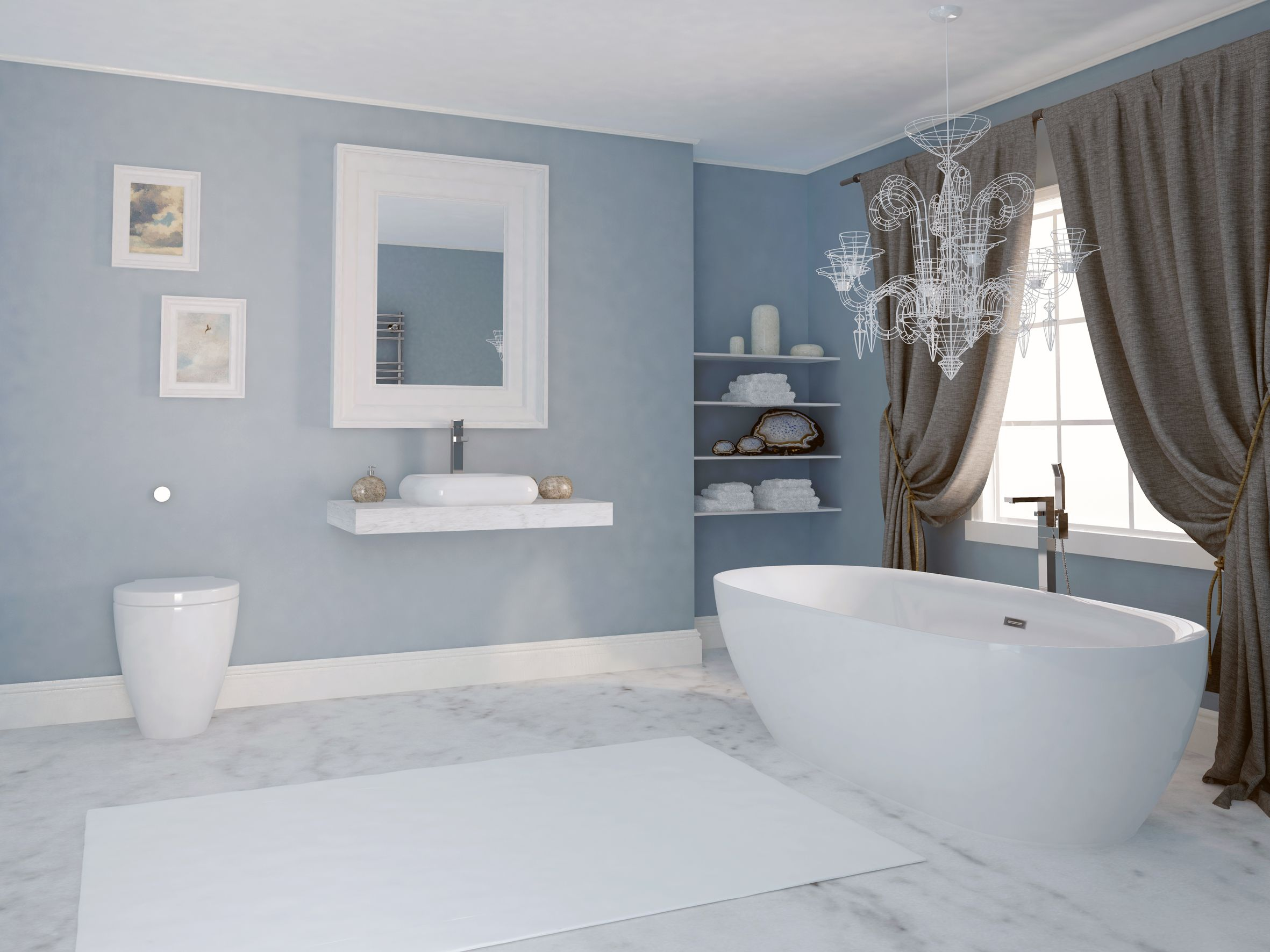 Inspiration from Bathrooms.com: Natural elements and materials such ...