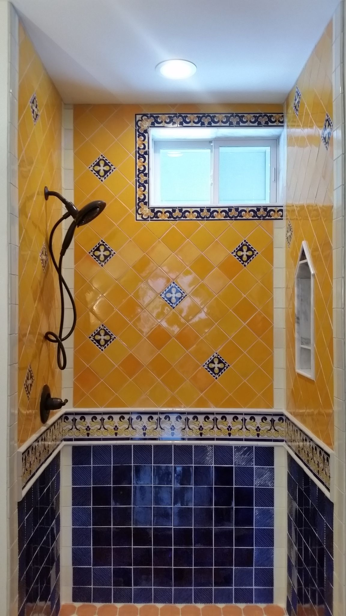 Tiling By Santana Com Mexican Tile Walk In Shower Menomonee - Bathroom remodeling menomonee falls wi